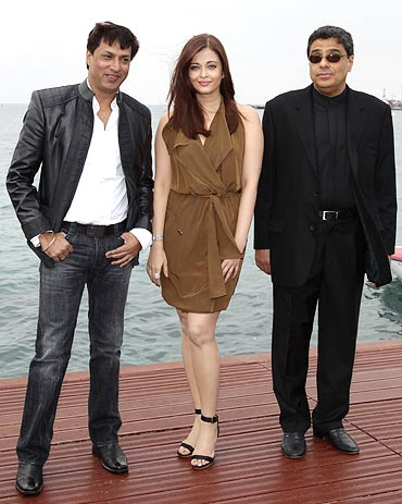 Madhur Bhandarkar, Aishwarya Rai Bachchan and Ronnie Screwvala