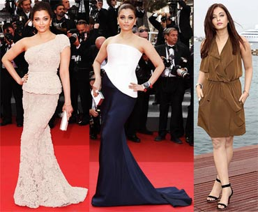 Aishwarya's different looks at Cannes