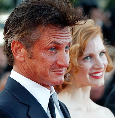 Sean Penn and Jessica Chastain