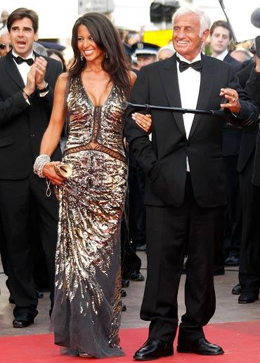 Jean-Paul Belmondo and Barbara Gandolfi