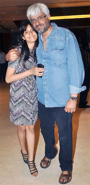 Vikram Bhatt with daughter