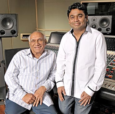 Yash Chopra and AR Rahman
