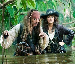 A still from Pirates Of The Caribbean