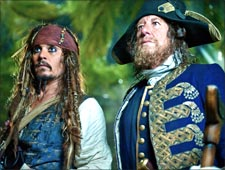 A scene from Pirates of the Caribbean: On Stranger Tides