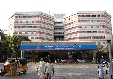 The hospital where Rajnikanth is hospitalised