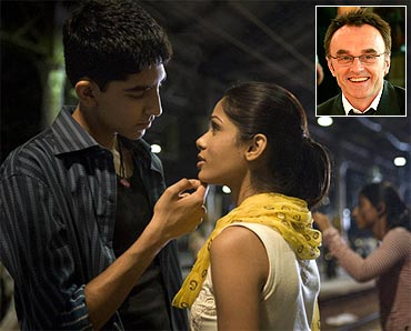 A still from Slumdog Millionaire. Inset: Danny Boyle