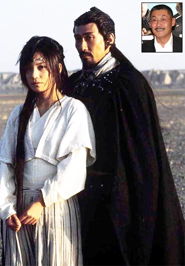 A scene from Warriors of Heaven and Earth. Inset: He Ping