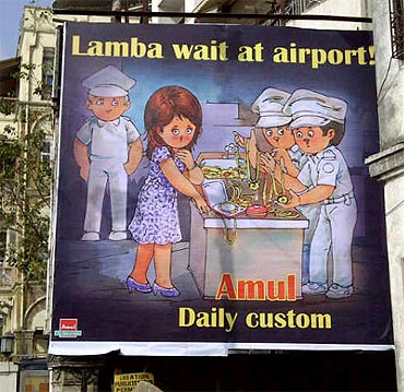Amul ad poster