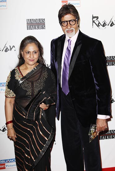 Jaya and Amitabh Bachchan