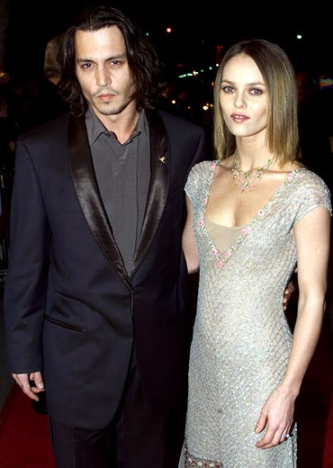 Johhny Depp and Vanessa Paradis
