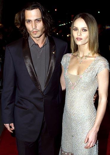 Johhny Depp and Vanessa Paradis