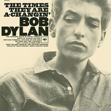 Bob Dylan on his album cover