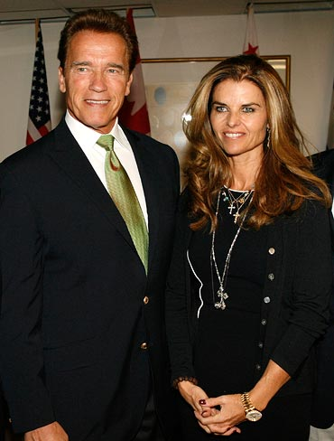 Arnold Scharwzenegger and Maria Shriver