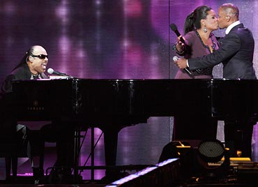 Stevie Wonder, Oprah and Jamie Foxx