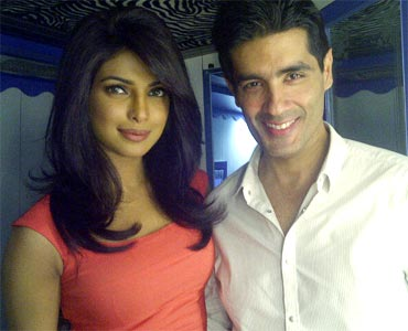Priyanka Chopra and Manish Malhotra