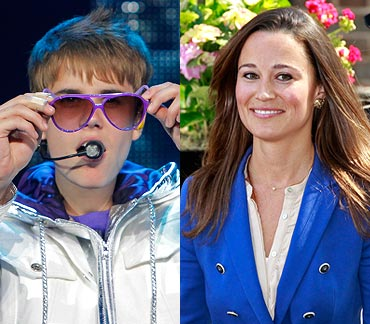 Justin Bieber and Pippa Middleton