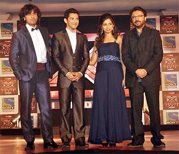 Sonu Nigam, Aditya Narayan, Shreya Ghoshal and Sanjay Leela Bhansali