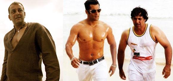 Sanjay Dutt, Salman Khan and Govinda
