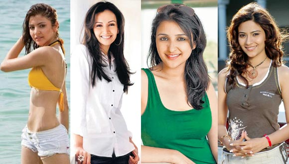 Anushka Sharma, Dipannita Sharma, Parineeti Chopra and Aditi Sharma