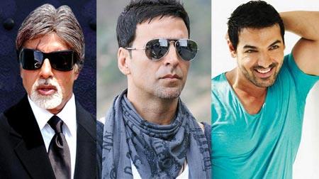Amitabh Bachchan, Akshay Kumar and John Abraham