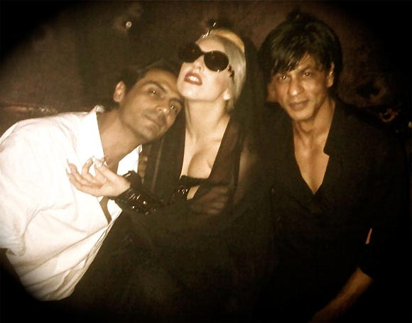 Arjun Rampal, Lady Gaga and Shah Rukh Khan