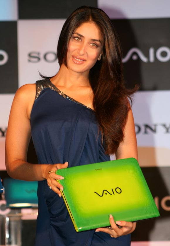 Kareena Kapoor at the Sony Vaio's promotion