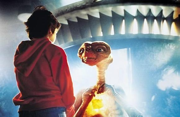 A scene from E.T. The Extra Terrestrial