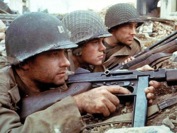 A scene from Saving Private Ryan