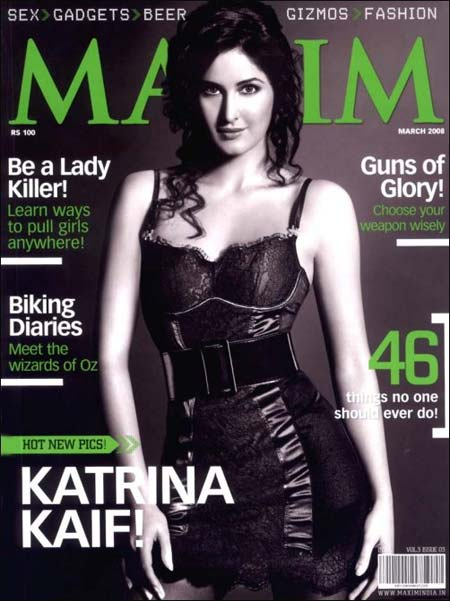 Katrina Kaif on Maxim cover