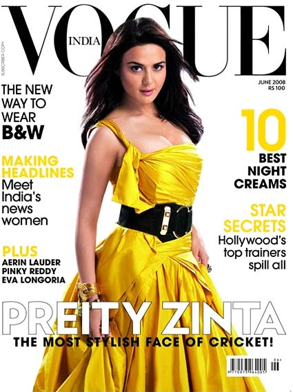 Preity Zinta on Vogue cover