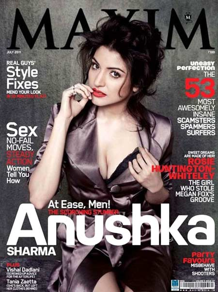 Anushka Sharma on Maxim cover
