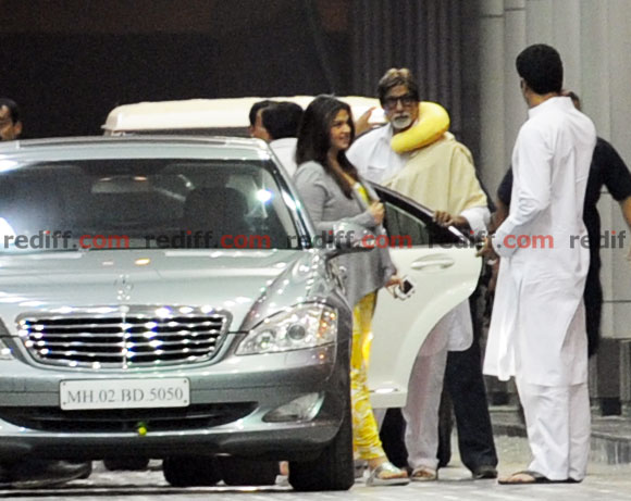 Aishwarya Rai Bachchan, Amitabh Bachchan and Abhishek Bachchan