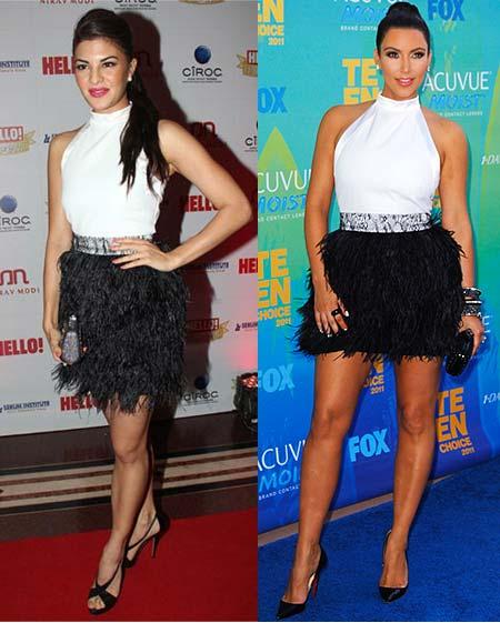 Jacqueline Fernandes and Kim Kardashian