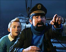 A scene from Tintin
