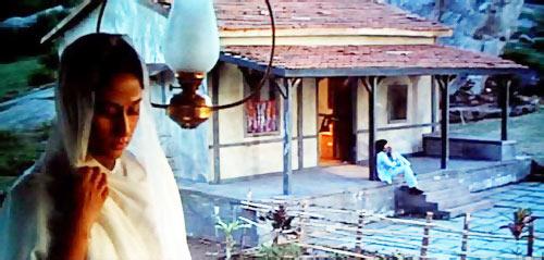 Jaya and Amitabh Bachchan in Sholay