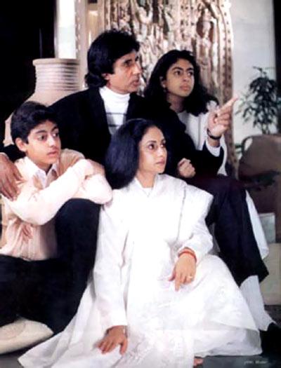 A family portrait: Amitabh, Jaya, Abhishek and Shweta