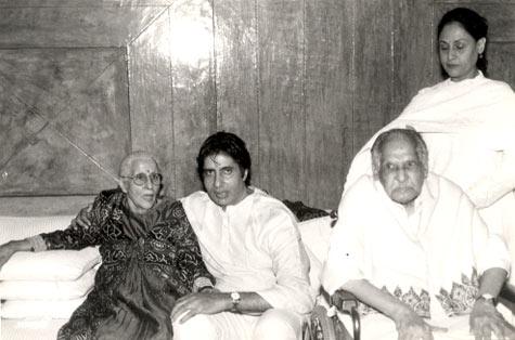 Amitabh and Jaya with Teji and Harivansh Rai Bachchan