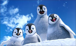A scene from Happy Feet Two