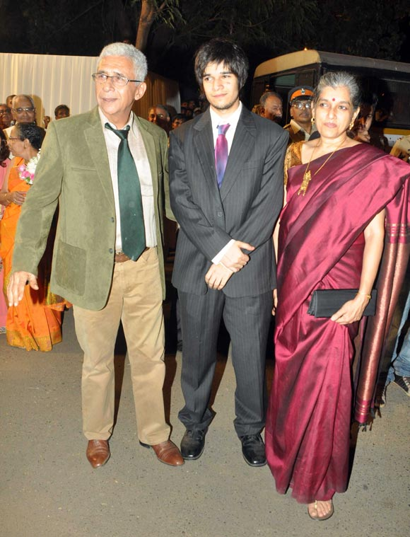 Naseeruddin, Vivaan and Ratna Pathak Shah