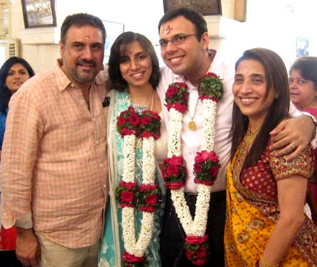 Danish Irani and Reah Cama with Boman Irani and Zenobia Irani
