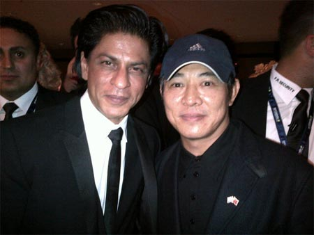 Shah Rukh Khan and Jet Li