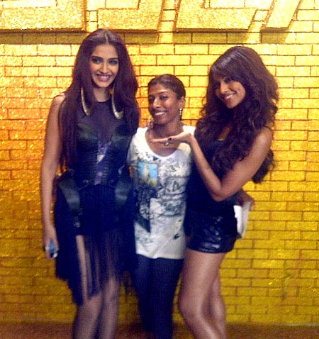 Sonam Kapoor, choreographer Tina and Bipasha Basu