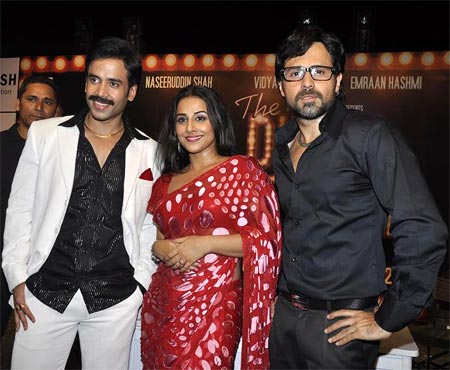 Tusshar Kapoor, Vidya Balan, Emraan Hashmi at the music launch