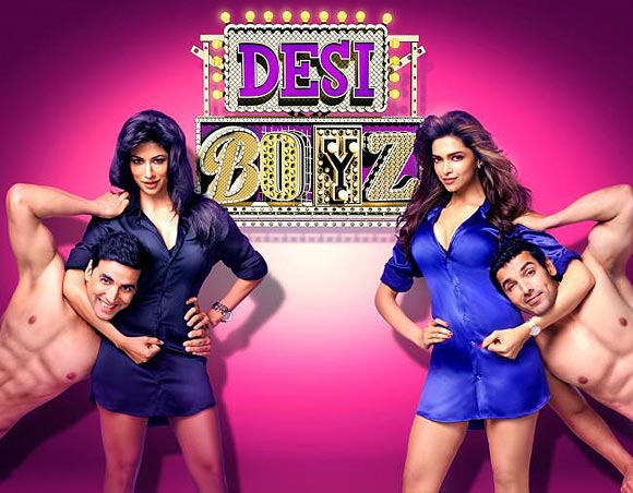 Movie poster of Desi Boyz