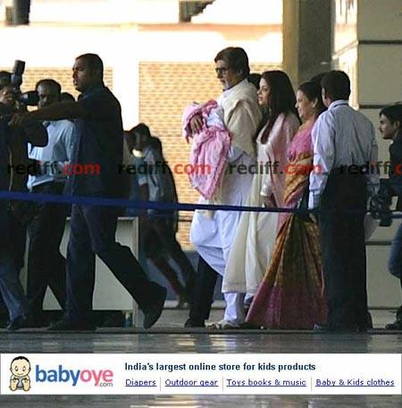 Amitabh Bachchan, Aishwarya Rai Bachhcan and Vrinda Rai