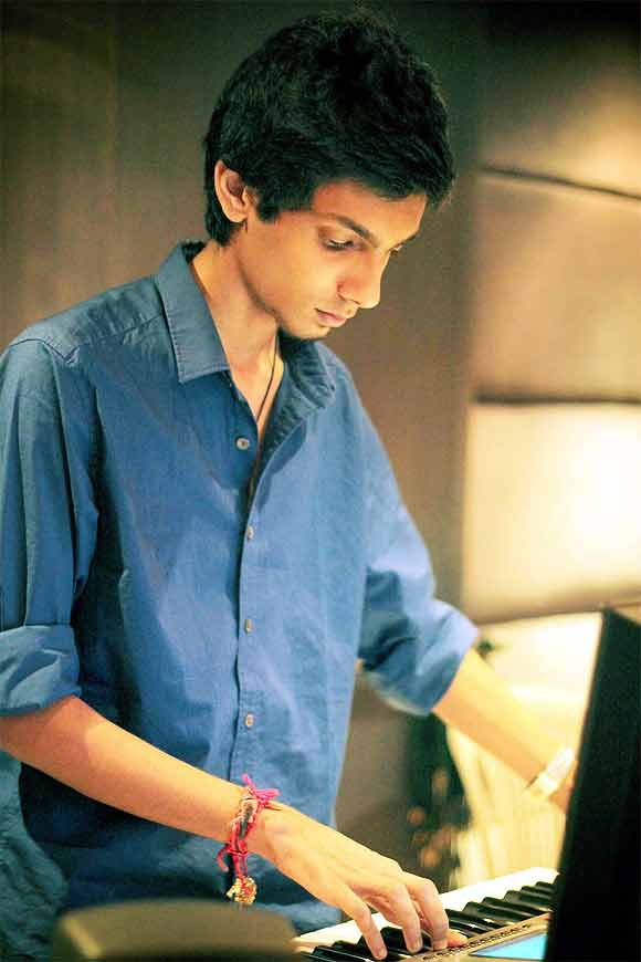 Anirudh Ravichander at work in the studio