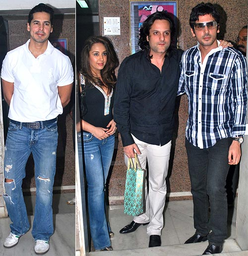 Dino Morea, Natasha, Fardeen and Zayed Khan