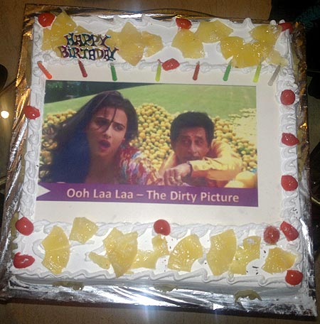 Bappi Lahiri's birthday cake on his birthday November 27