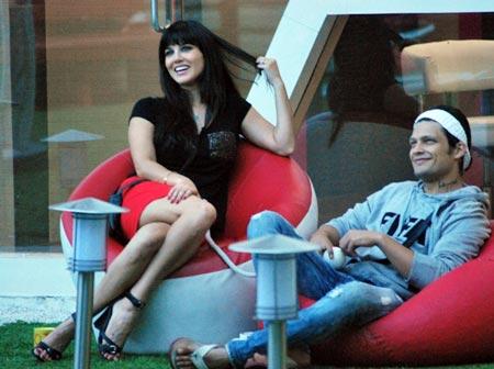 Sunny Leone with Sidharth Bharadwaj
