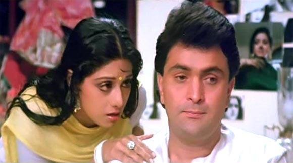 A scene from Chandni (1989)
